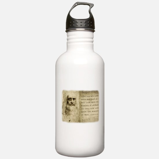 Da Vinci Animal Quote Water Bottle