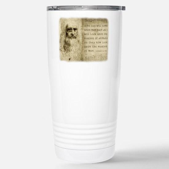 Da Vinci Animal Quote Stainless Steel Travel Mug