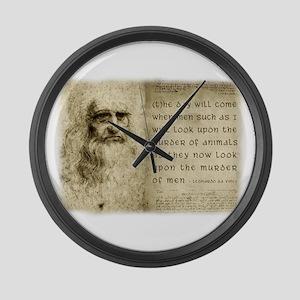 Da Vinci Animal Quote Large Wall Clock