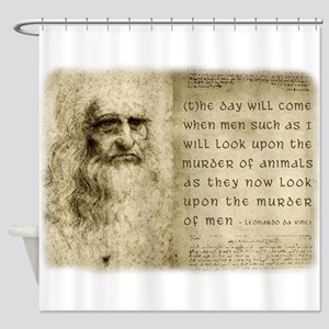 Da Vinci Animal Quote Shower Curtain