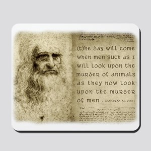 Da Vinci Animal Quote Mousepad