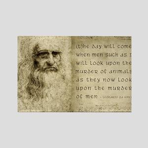 Da Vinci Animal Quote Rectangle Magnet
