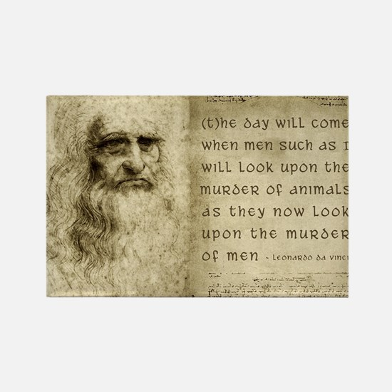 Da Vinci Animal Quote Rectangle Magnet