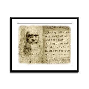 Da Vinci Animal Quote Framed Panel Print