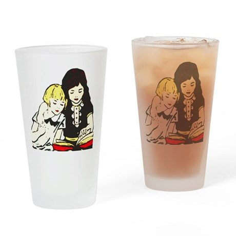 A Good Book Drinking Glass