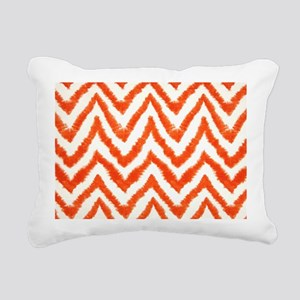 Shaggy Orange Chevron Rectangular Canvas Pillow