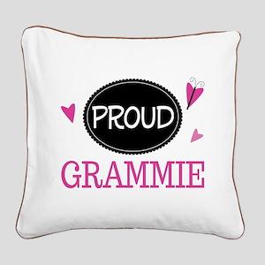 Proud Grammie Square Canvas Pillow