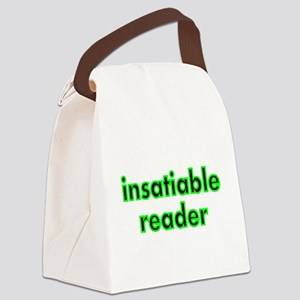 insatiable reader Canvas Lunch Bag