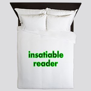 insatiable reader Queen Duvet