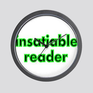 insatiable reader Wall Clock