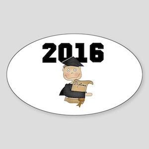 Boy Graduate 2016 Sticker (Oval)