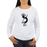 Kokopelli Skateboarder Women's Long Sleeve T-Shirt