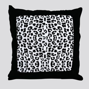 Snow Leopard Print Throw Pillow