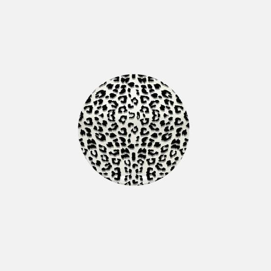 Snow Leopard Print Mini Button