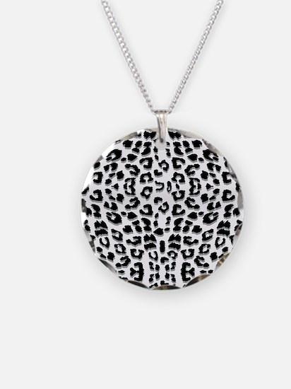Snow Leopard Print Necklace