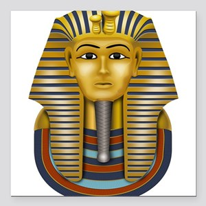 "Egyptian King Tut Square Car Magnet 3"" x 3"""