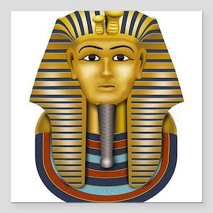 """Egyptian King Tut Square Car Magnet 3"""" x 3"""""""