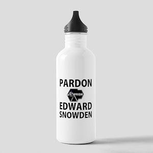 Pardon Edward Snowden Water Bottle