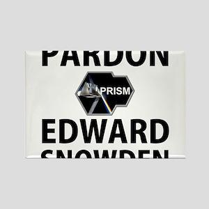 Pardon Edward Snowden Rectangle Magnet