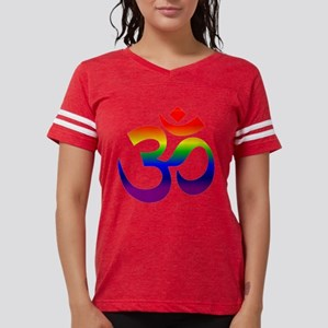 big rainbow om Womens Football Shirt