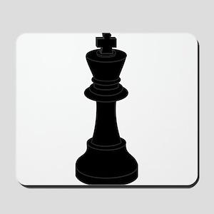 Black King Chess Piece Mousepad