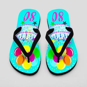 SWEET 80TH Flip Flops