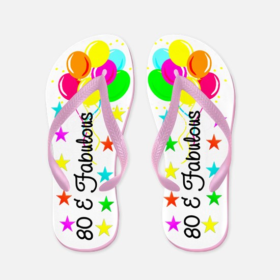 FESTIVE 80TH Flip Flops