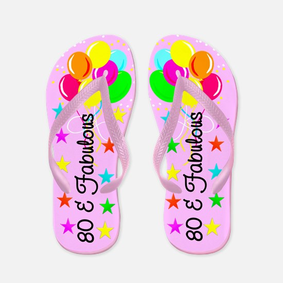 COLORFUL 80TH Flip Flops