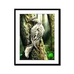 Wood Bird Framed Panel Print