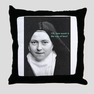 Saint Theresa of the Little Flower Throw Pillow