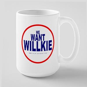 We Want Willkie Large Mug