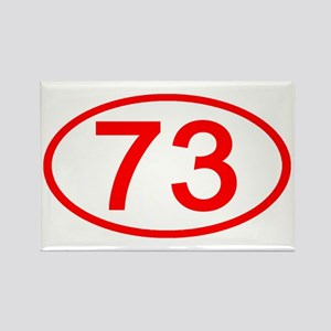 Number 73 Oval Rectangle Magnet