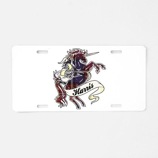 Harris Unicorn Aluminum License Plate