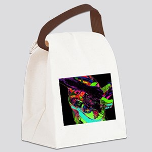 Neon psychadelic guitar Canvas Lunch Bag