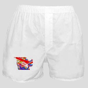Guitar psychadelic design Boxer Shorts