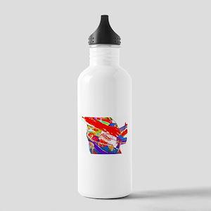 Guitar psychadelic design Water Bottle