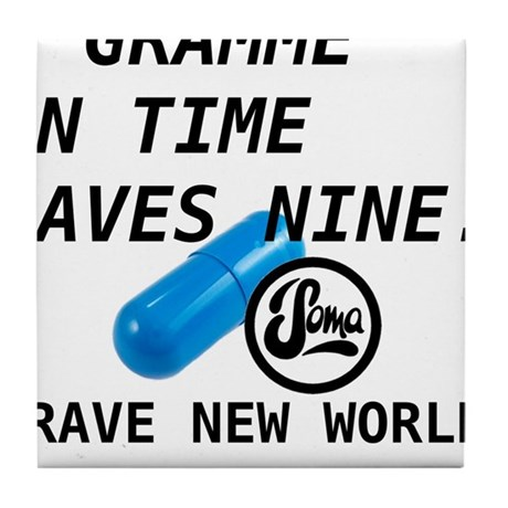 Brave New World - Gramme in Time Tile Coaster
