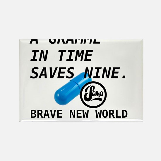 Brave New World - Gramme in Time Rectangle Magnet