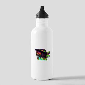 Guitar psychadelic design cutout Water Bottle