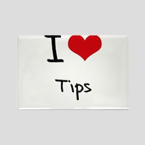 I love Tips Rectangle Magnet