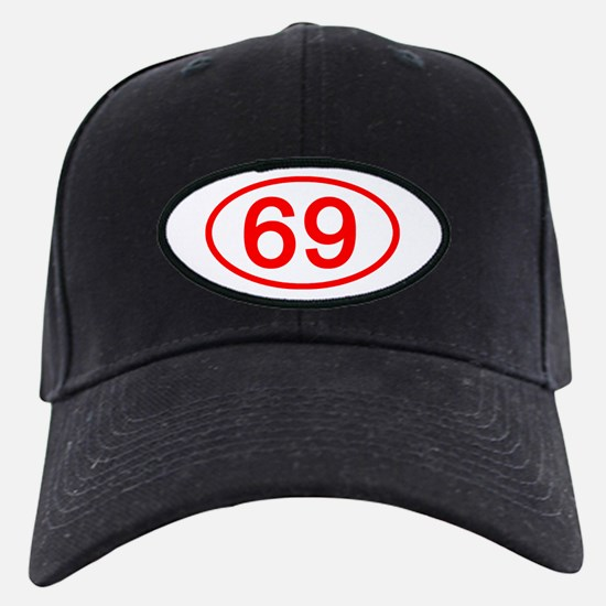 Number 69 Oval Baseball Hat