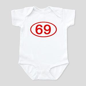 Number 69 Oval Infant Bodysuit