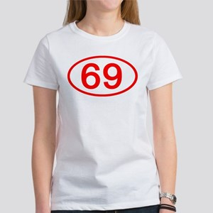 Number 69 Oval Women's T-Shirt