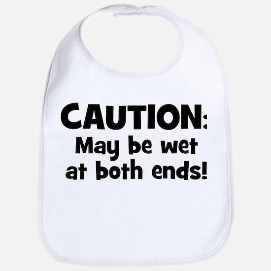 Funny Baby Caution Bib
