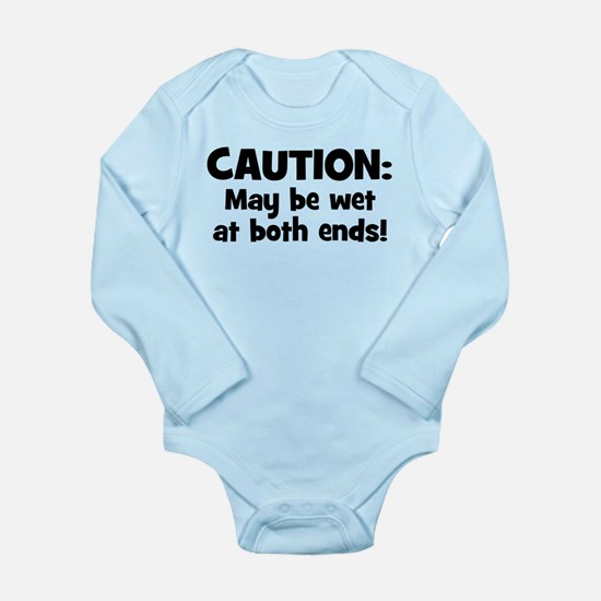 Funny Baby Caution Body Suit