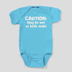 Funny Baby Caution Baby Bodysuit