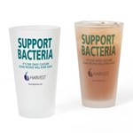 """""""Support Bacteria"""" Drinking Glass"""