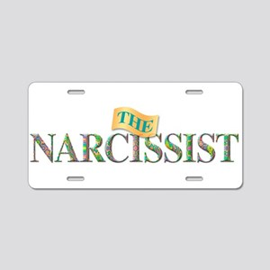 The Narcissist Aluminum License Plate