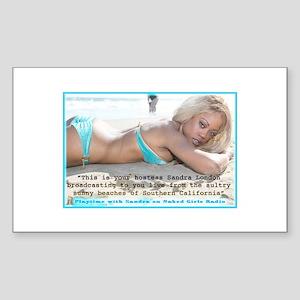 Sandra London Sticker (Rectangle 10 pk)
