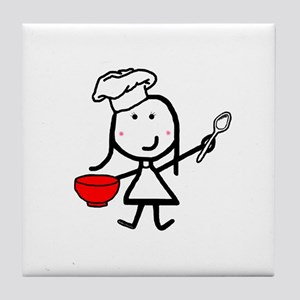 Girl & Chef Tile Coaster